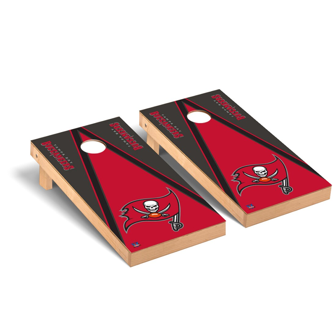 Tampa Bay Buccaneers 2' x 4' Triangle Cornhole Board Tailgate Toss Set