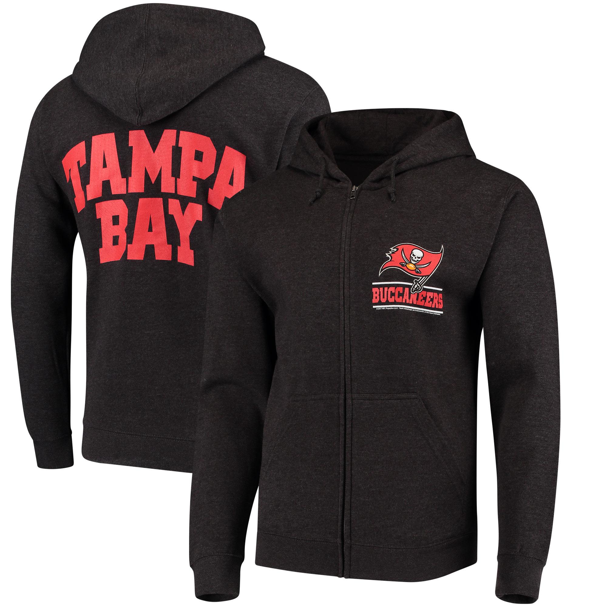 Tampa Bay Buccaneers Quarterback Full-Zip Hoodie - Heathered Charcoal