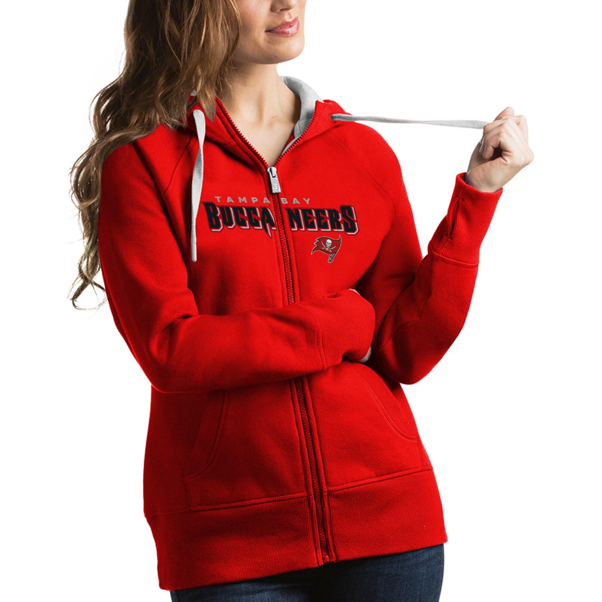 Tampa Bay Buccaneers Antigua Women's Victory Full-Zip Hoodie - Red