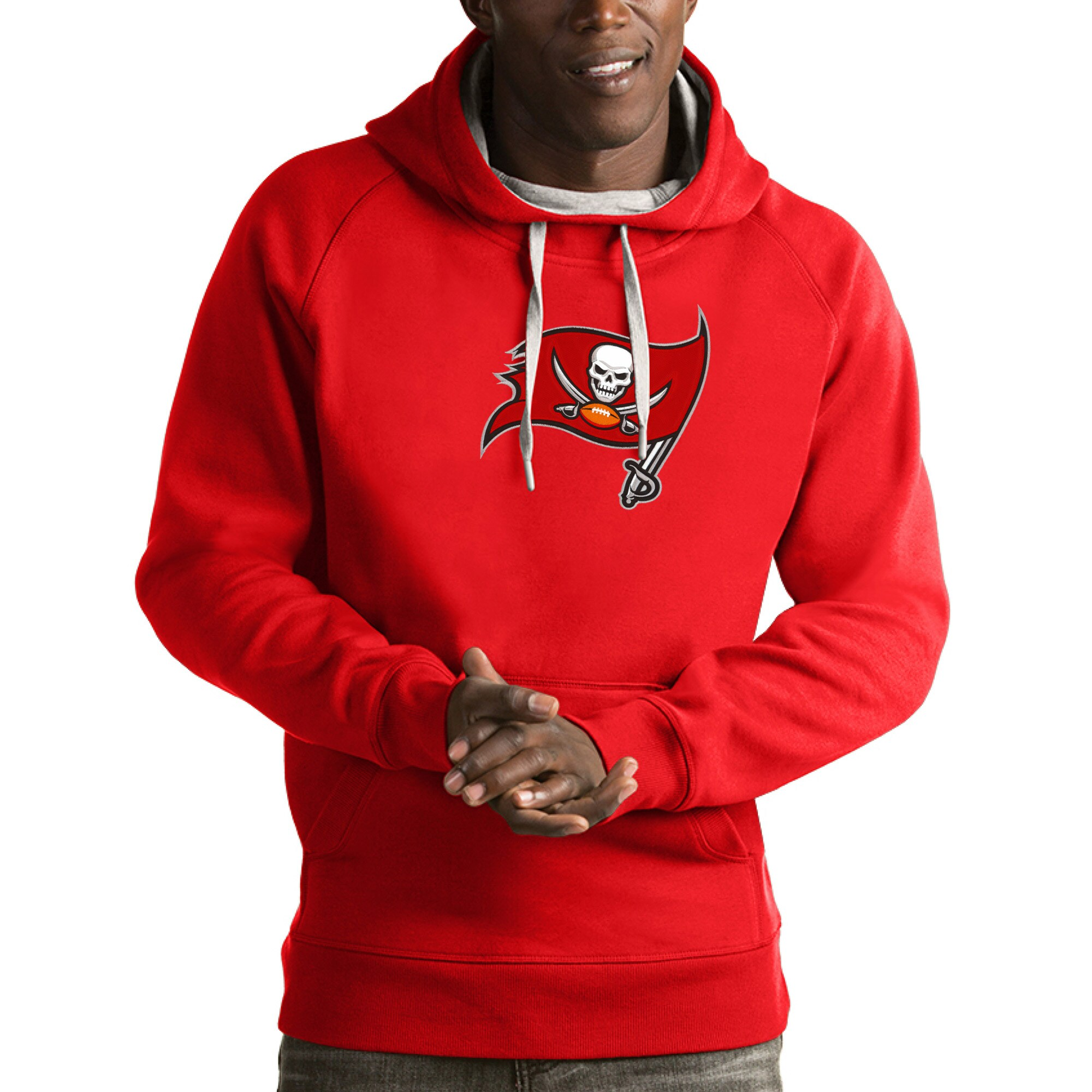 Tampa Bay Buccaneers Antigua Victory Pullover Hoodie - Red
