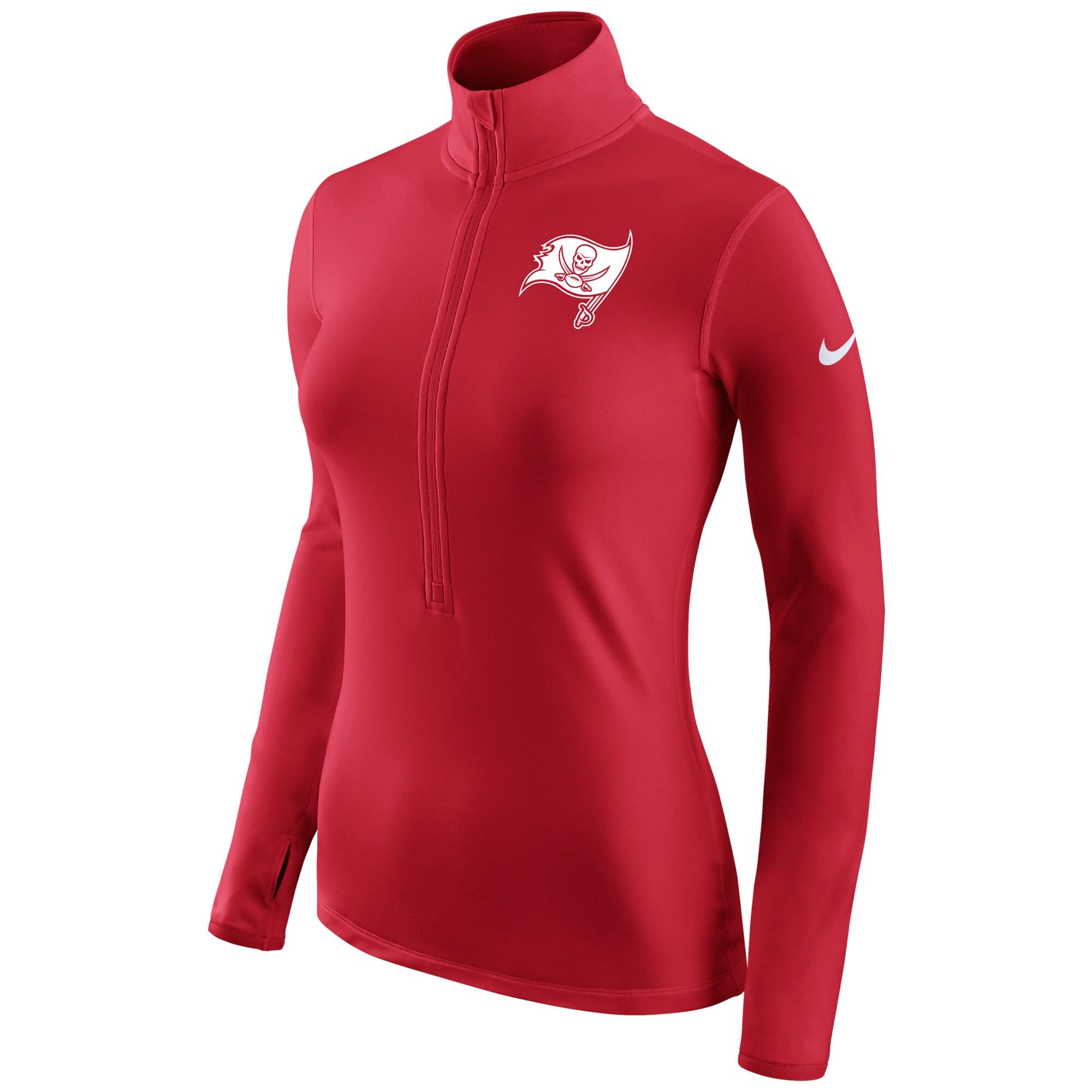 Tampa Bay Buccaneers Nike Women's Champ Drive Pro Hyperwarm Half-Zip Jacket - Red