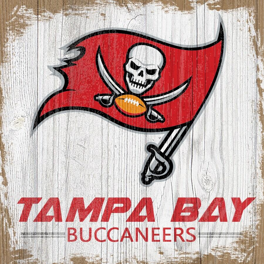 Tampa Bay Buccaneers 6'' x 6'' Team Logo Block