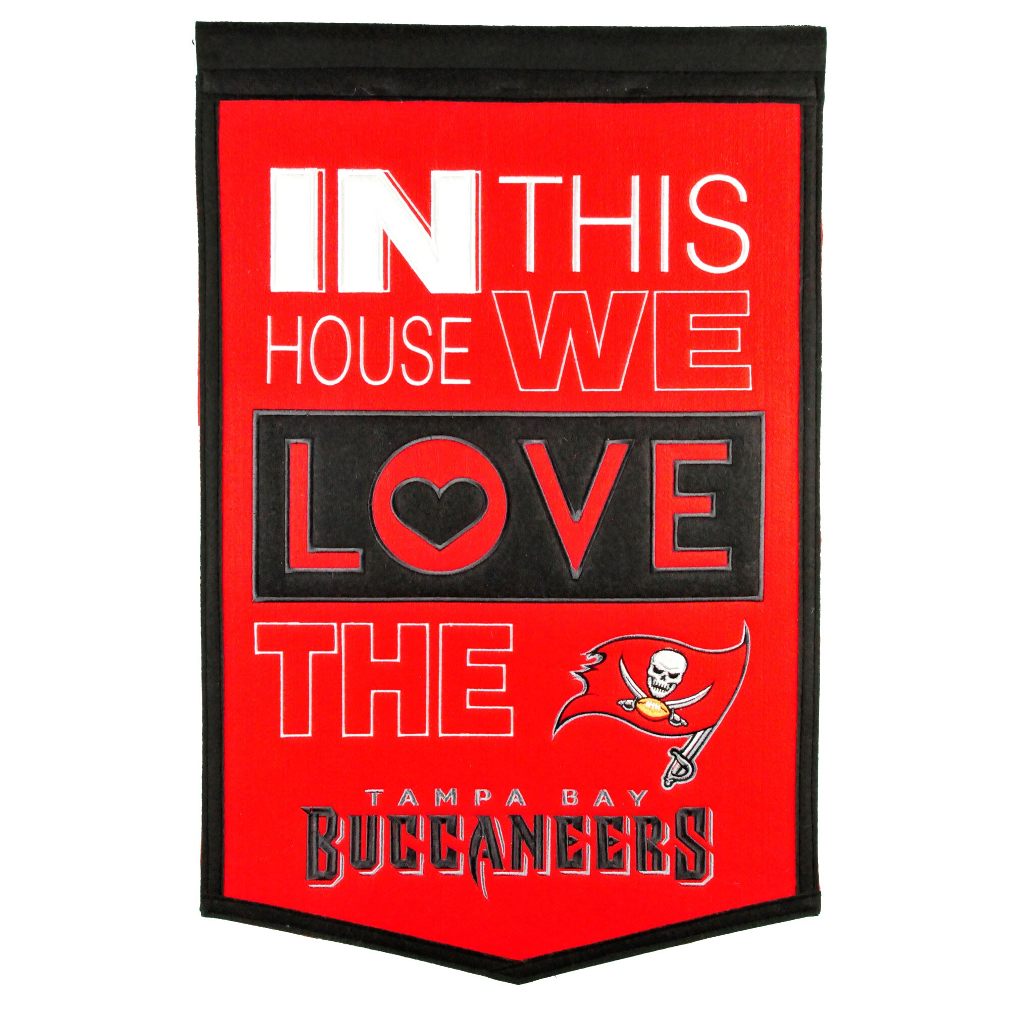 Tampa Bay Buccaneers 15'' x 24'' Home Banner
