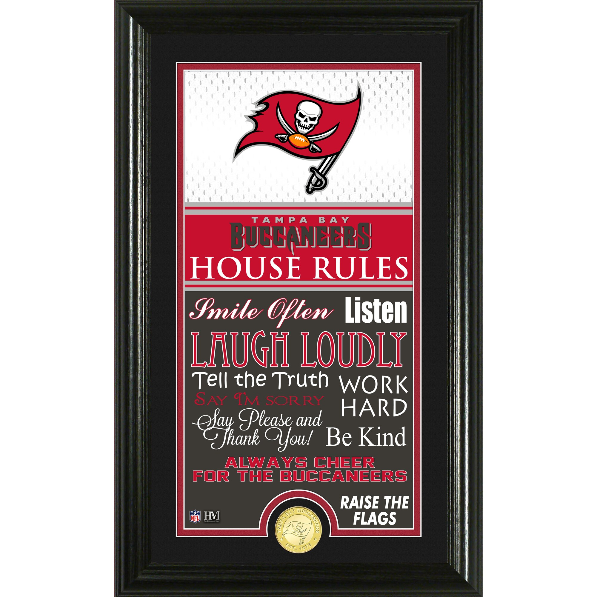 Tampa Bay Buccaneers Highland Mint 12'' x 20'' House Rules Supreme Photo Mint