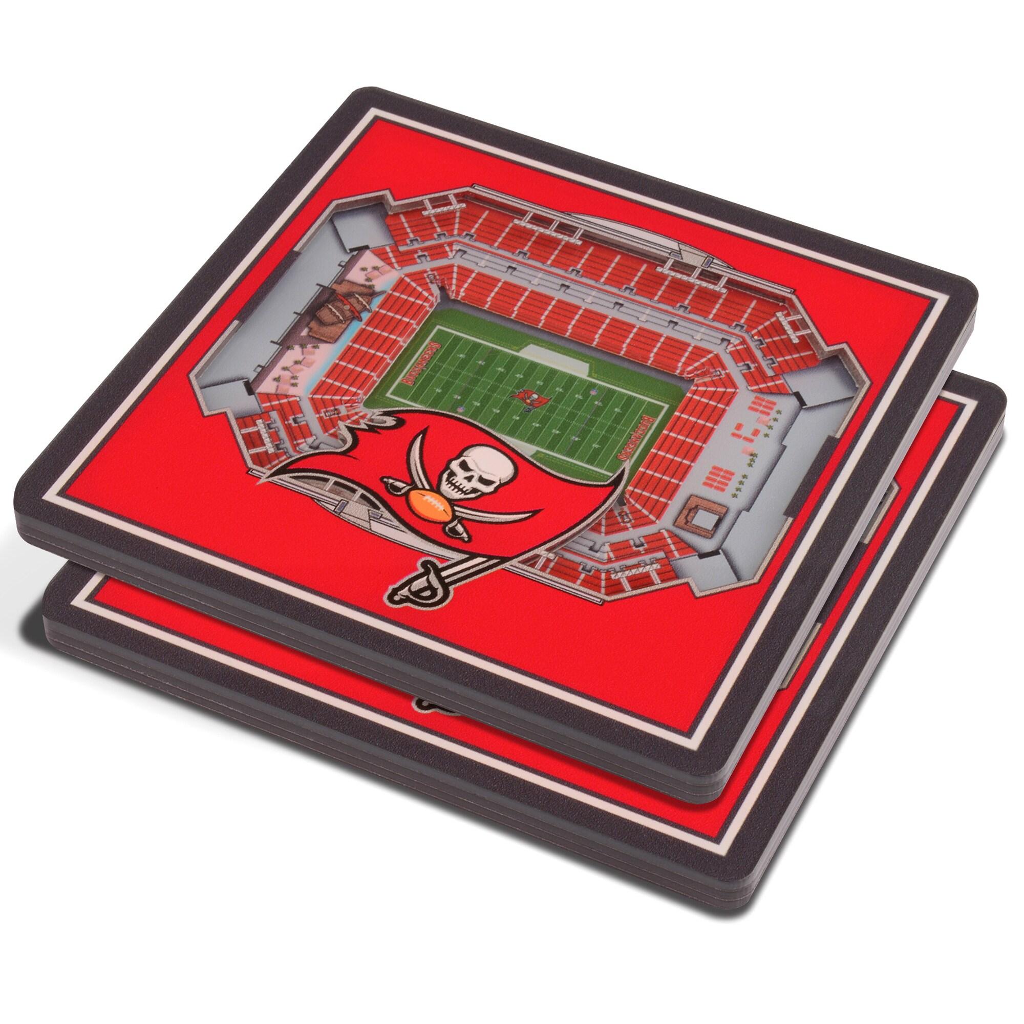 Tampa Bay Buccaneers 3D StadiumViews Coasters - Red
