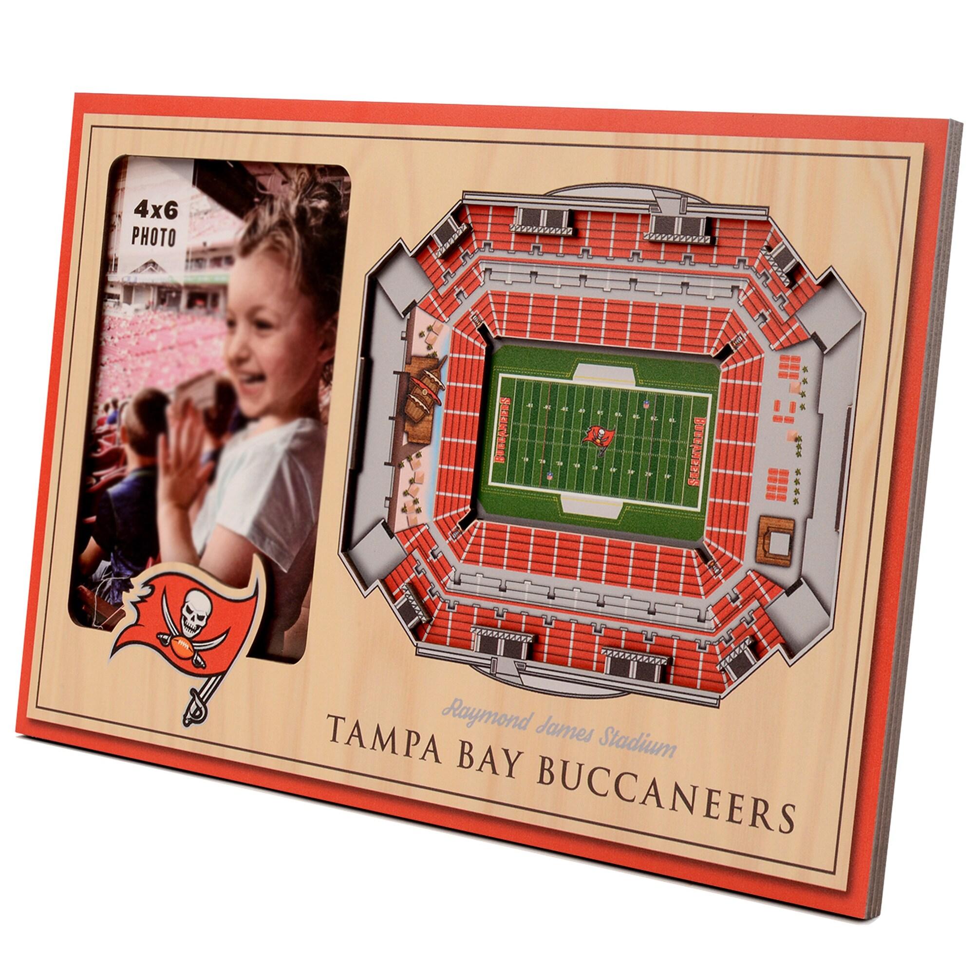 Tampa Bay Buccaneers 3D StadiumViews Picture Frame - Brown