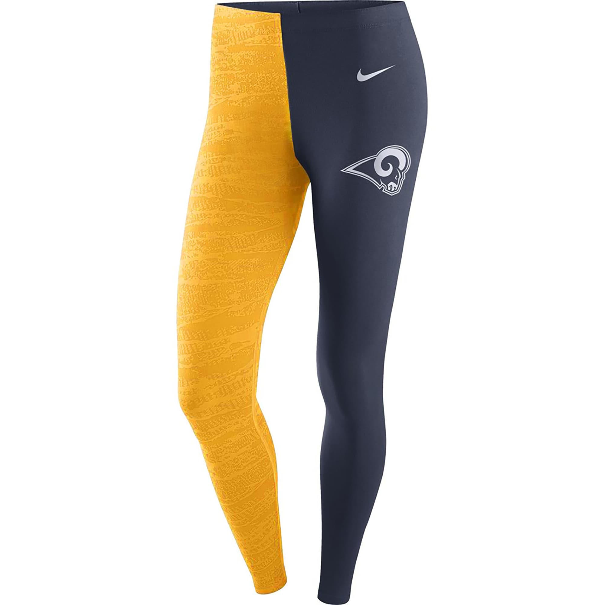 Los Angeles Rams Nike Women's Leg-A-See Leggings - Navy/Gold