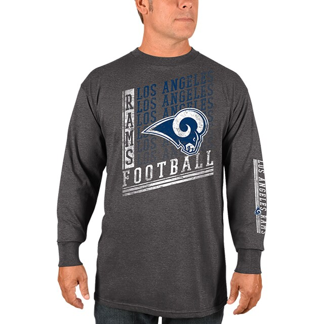Los Angeles Rams Majestic Dual Threat Long Sleeve T-Shirt - Heathered Charcoal