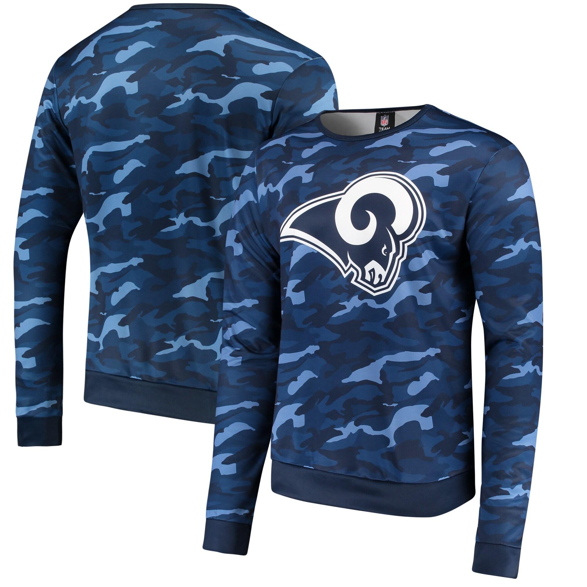 Los Angeles Rams Camo Sweatshirt - Navy
