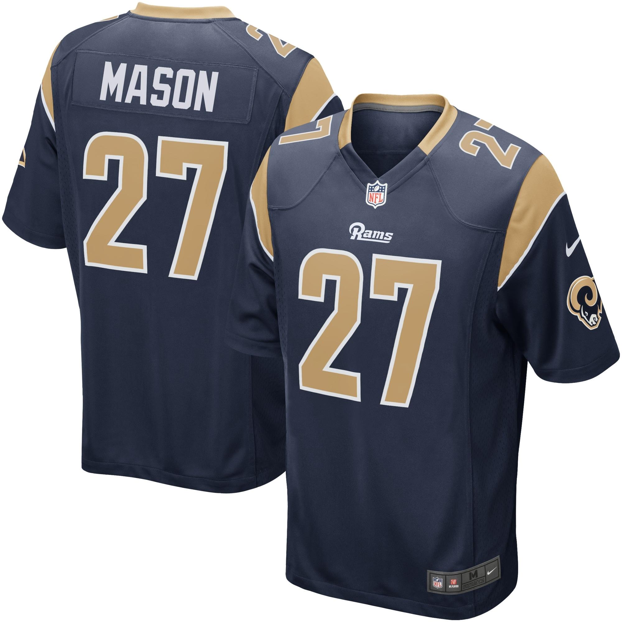 Tre Mason Los Angeles Rams Nike Game Jersey - Navy