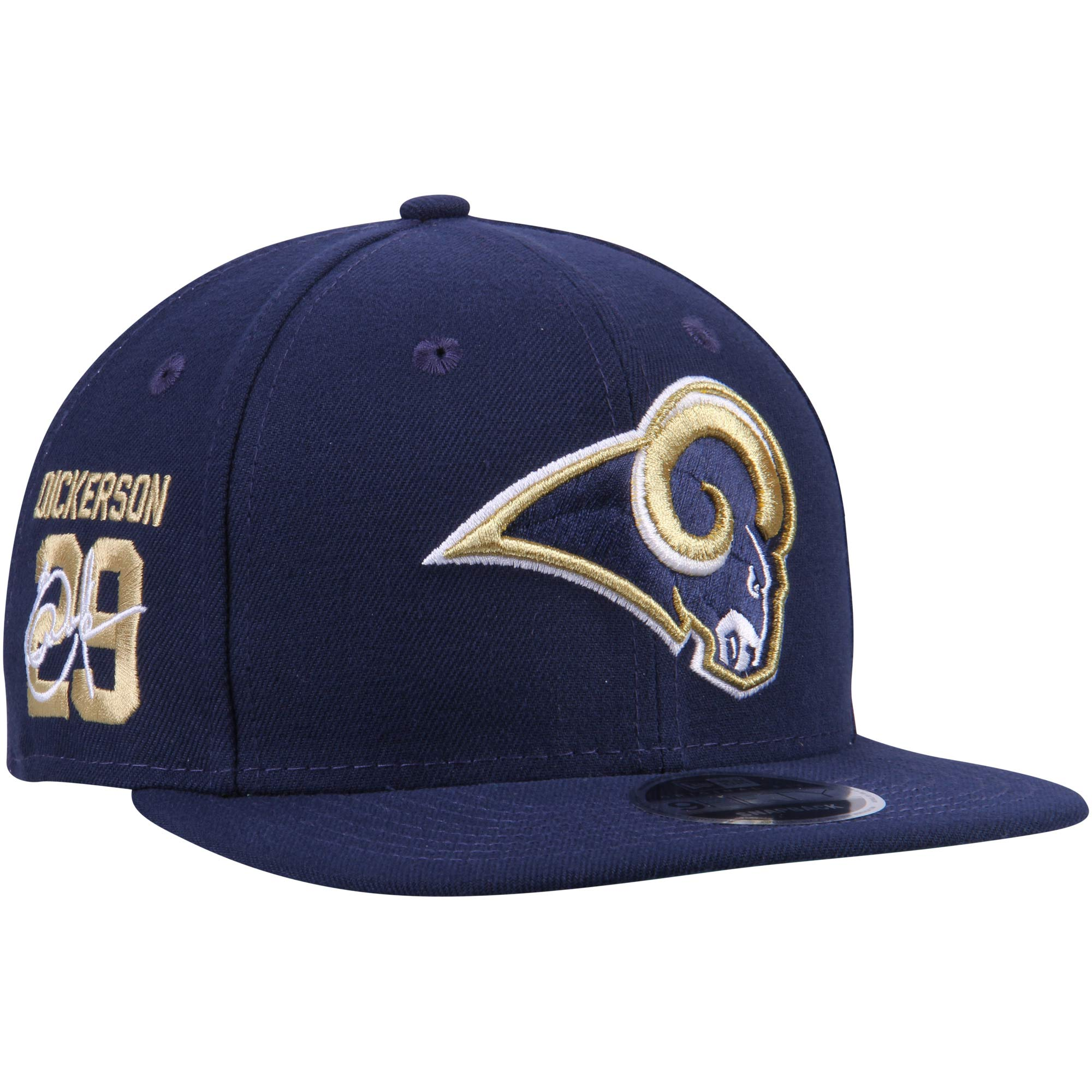 Eric Dickerson Los Angeles Rams New Era Signature Side 9FIFTY Adjustable Snapback Hat - Navy