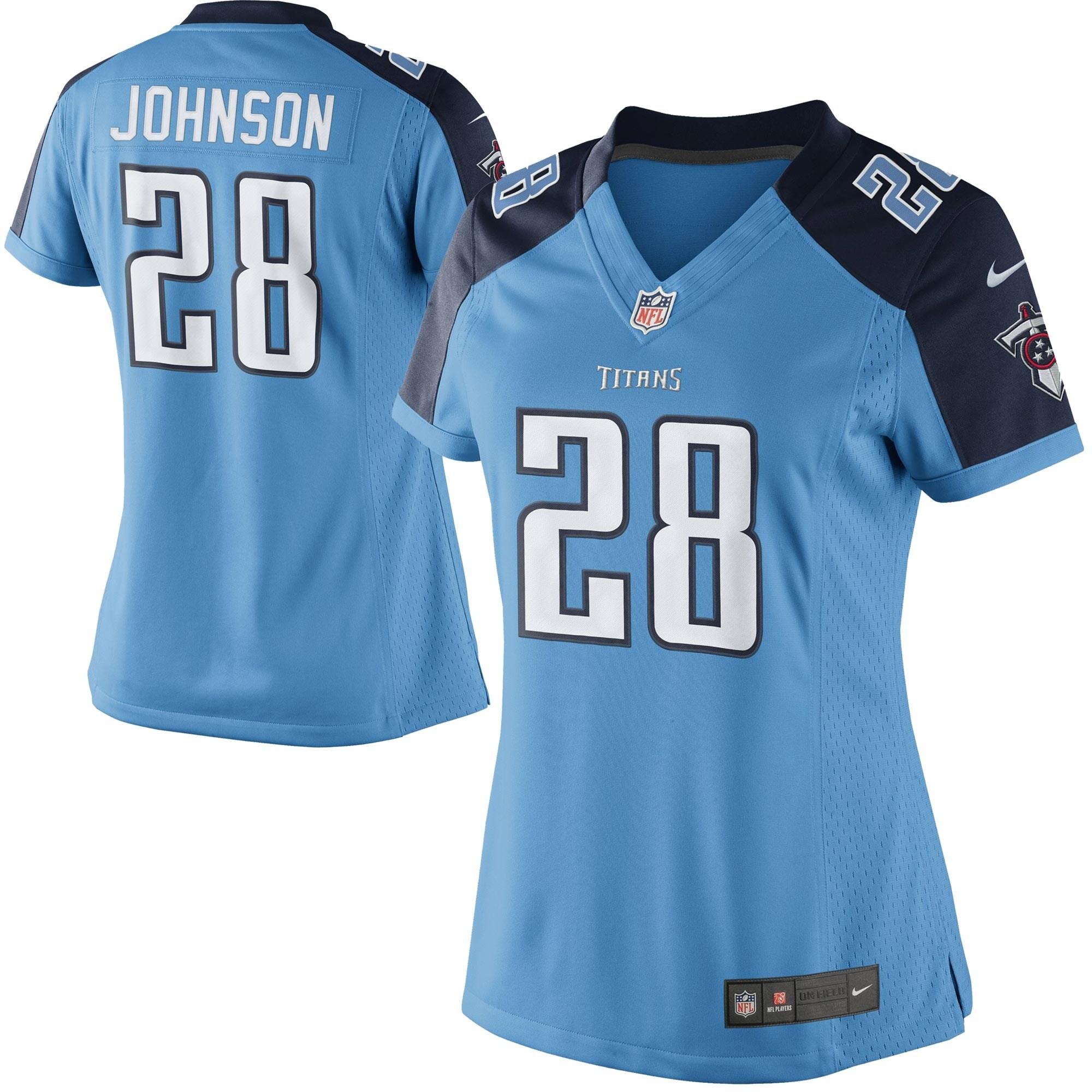 Chris Johnson Tennessee Titans Nike Women's Alternate Limited Jersey - Light Blue