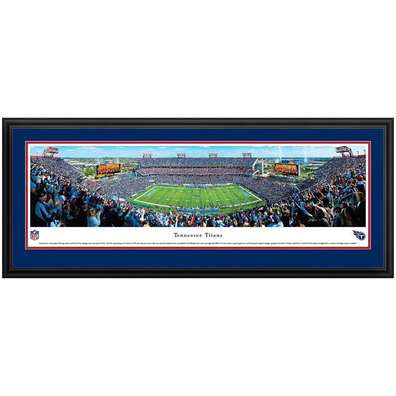 "Tennessee Titans 44"" x 18"" Deluxe Frame Panoramic Photo"