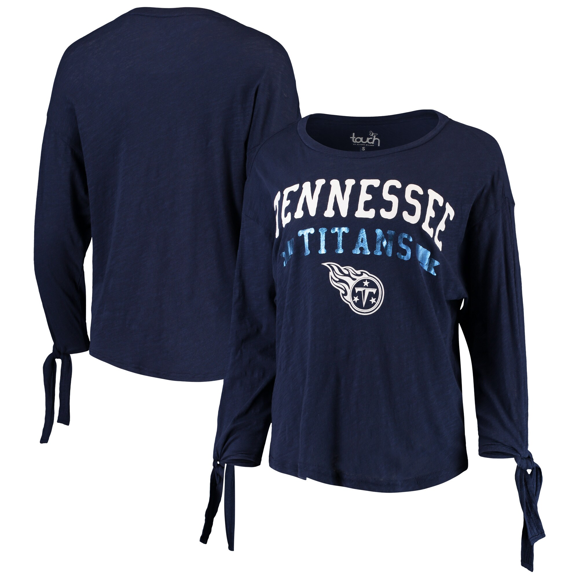 Tennessee Titans Touch by Alyssa Milano Women's On The Fly Long Sleeve T-Shirt - Navy