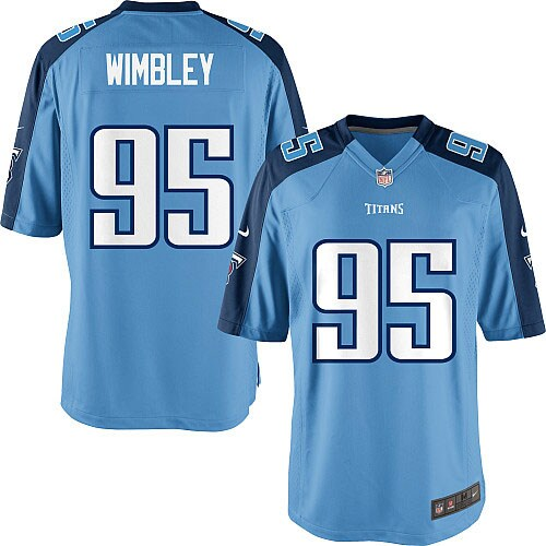Kamerion Wimbley Tennessee Titans Nike Youth Alternate Game Jersey - Light Blue