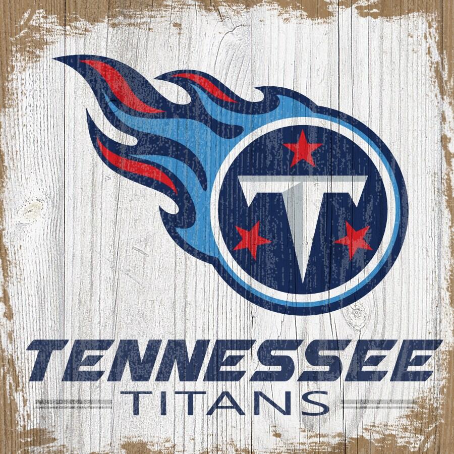 Tennessee Titans 6'' x 6'' Team Logo Block