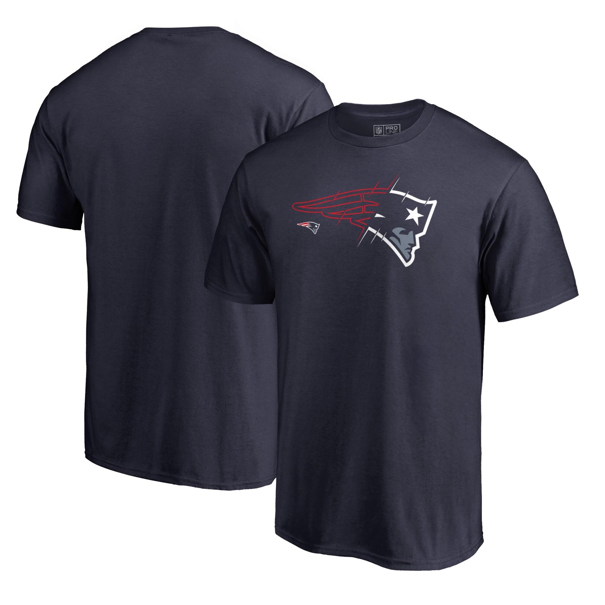 New England Patriots NFL Pro Line by Fanatics Branded X-Ray T-Shirt - Navy