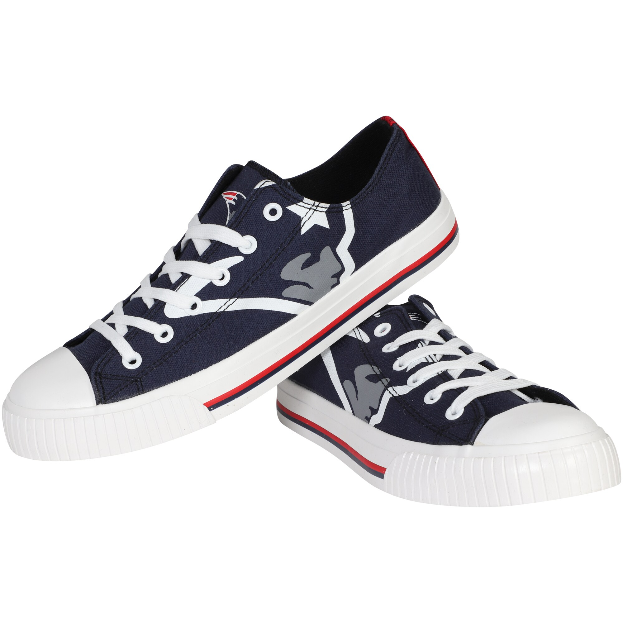 New England Patriots Big Logo Low Top Sneakers