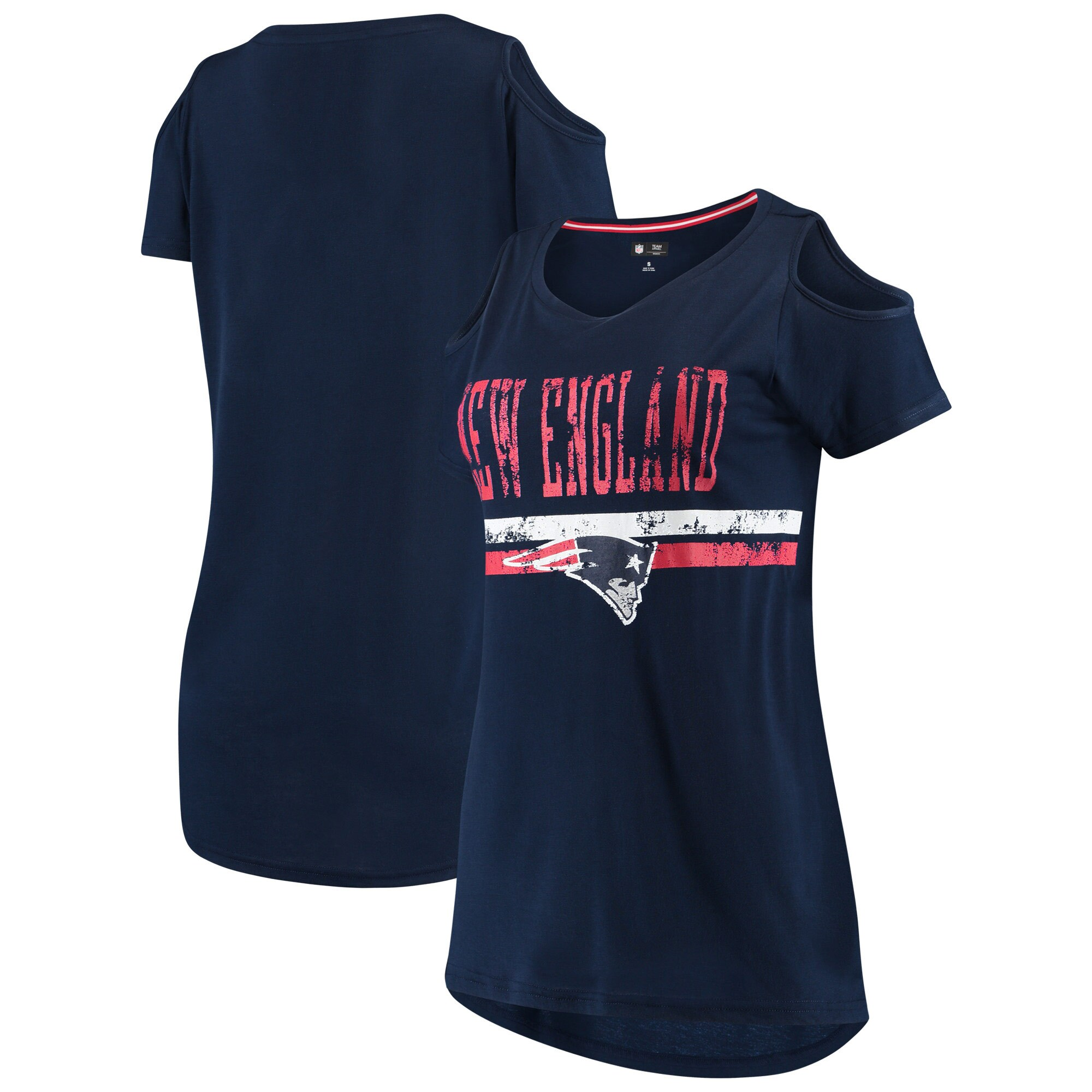 New England Patriots G-III 4Her by Carl Banks Women's Clear the Bases Scoopneck T-Shirt - Navy