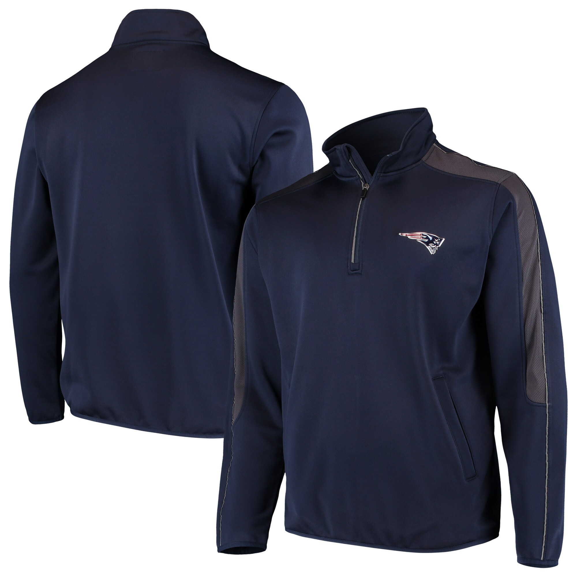 New England Patriots G-III Sports by Carl Banks I Formation Quarter-Zip Pullover Jacket - Navy