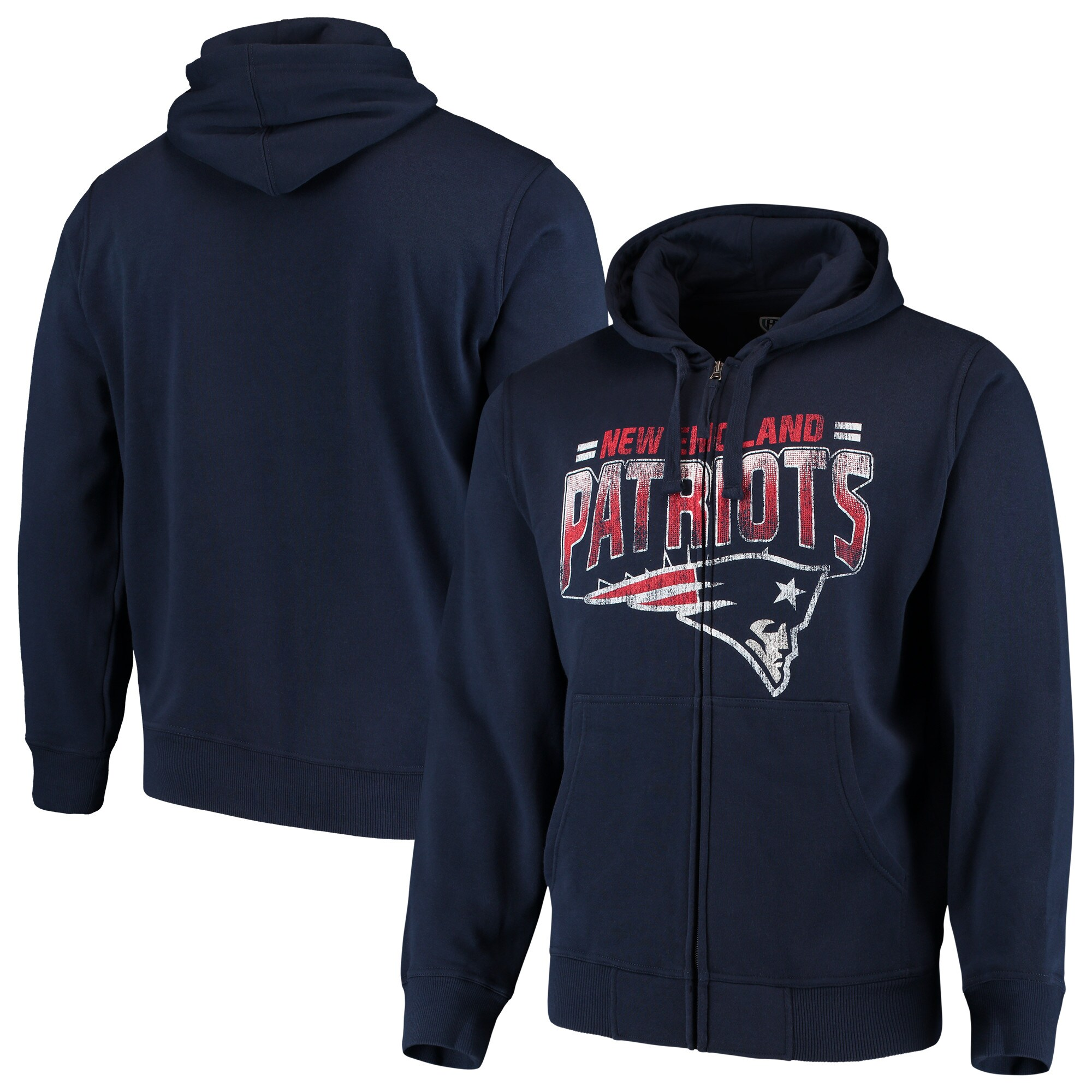 New England Patriots G-III Sports by Carl Banks Perfect Season Full-Zip Hoodie - Navy