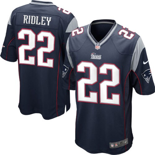 Stevan Ridley New England Patriots Nike Game Jersey - Navy Blue