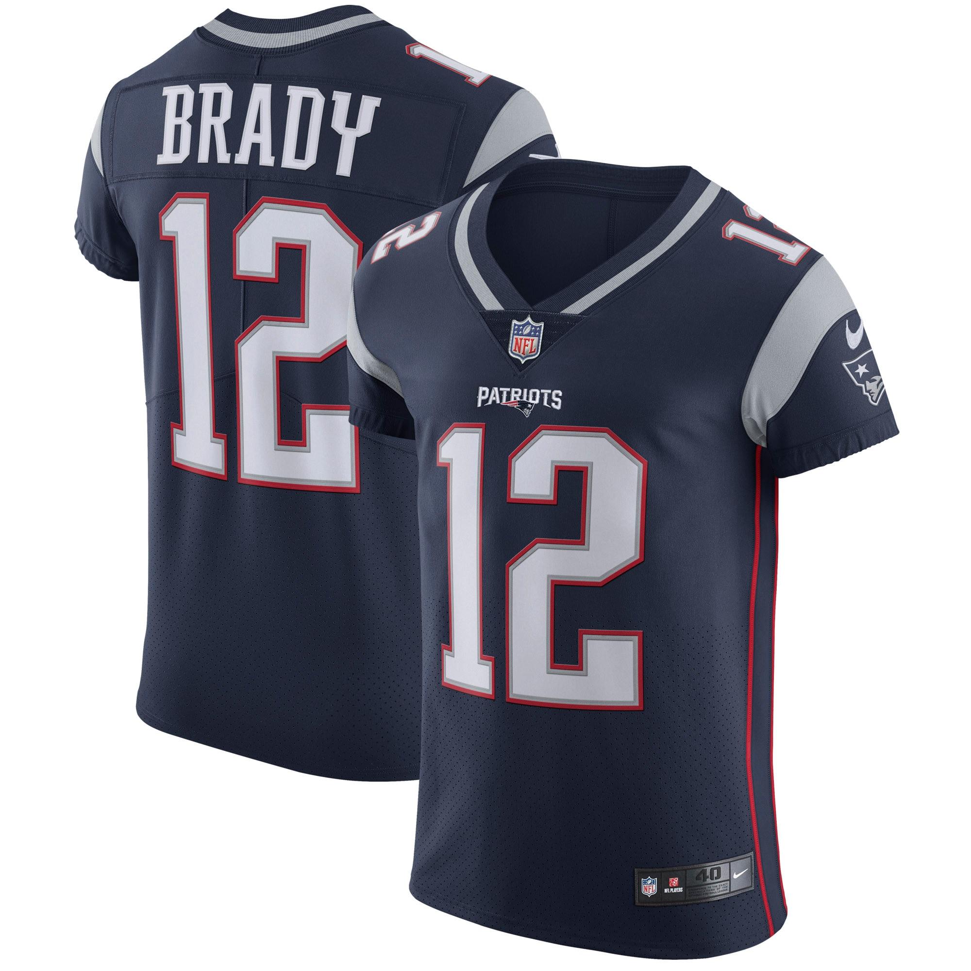 Tom Brady New England Patriots Nike Vapor Untouchable Elite Player Jersey - Navy