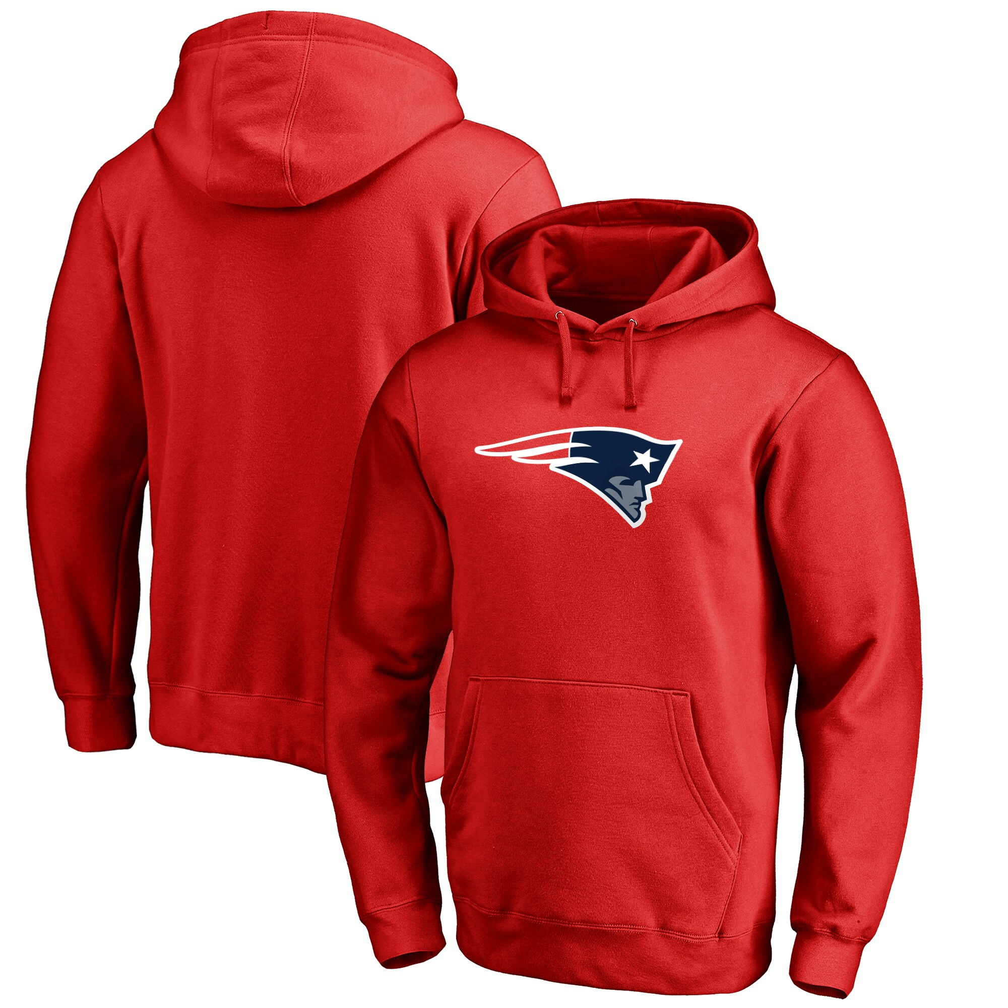 New England Patriots NFL Pro Line by Fanatics Branded Big & Tall Primary Logo Hoodie - Red