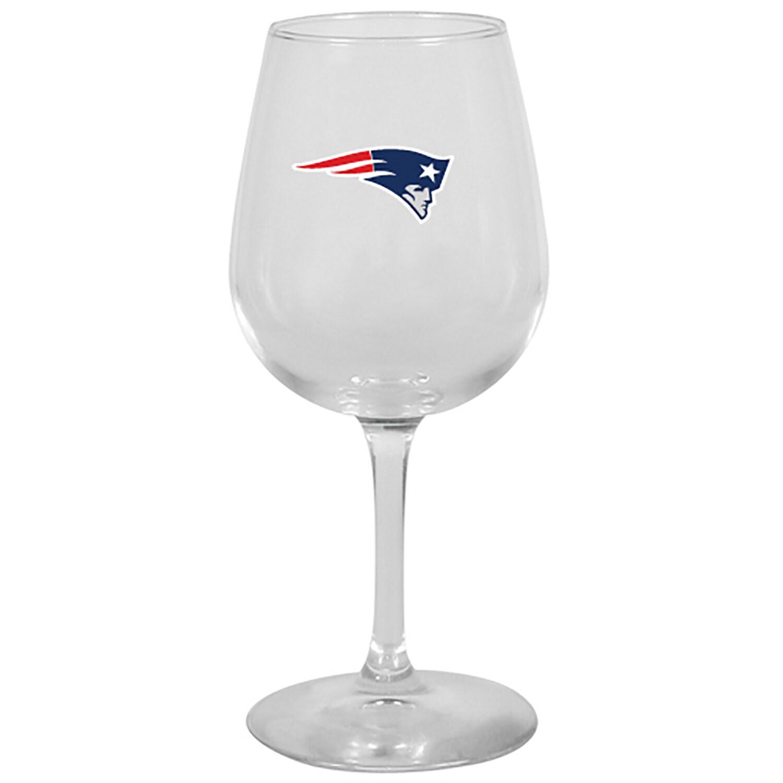 New England Patriots 12oz. Stemmed Wine Glass