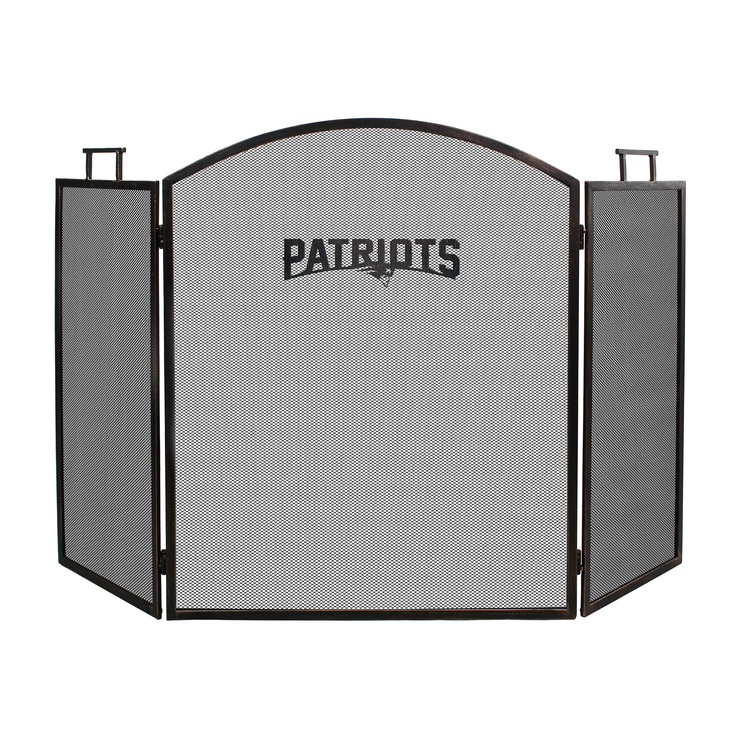 New England Patriots Imperial Fireplace Screen - Brown