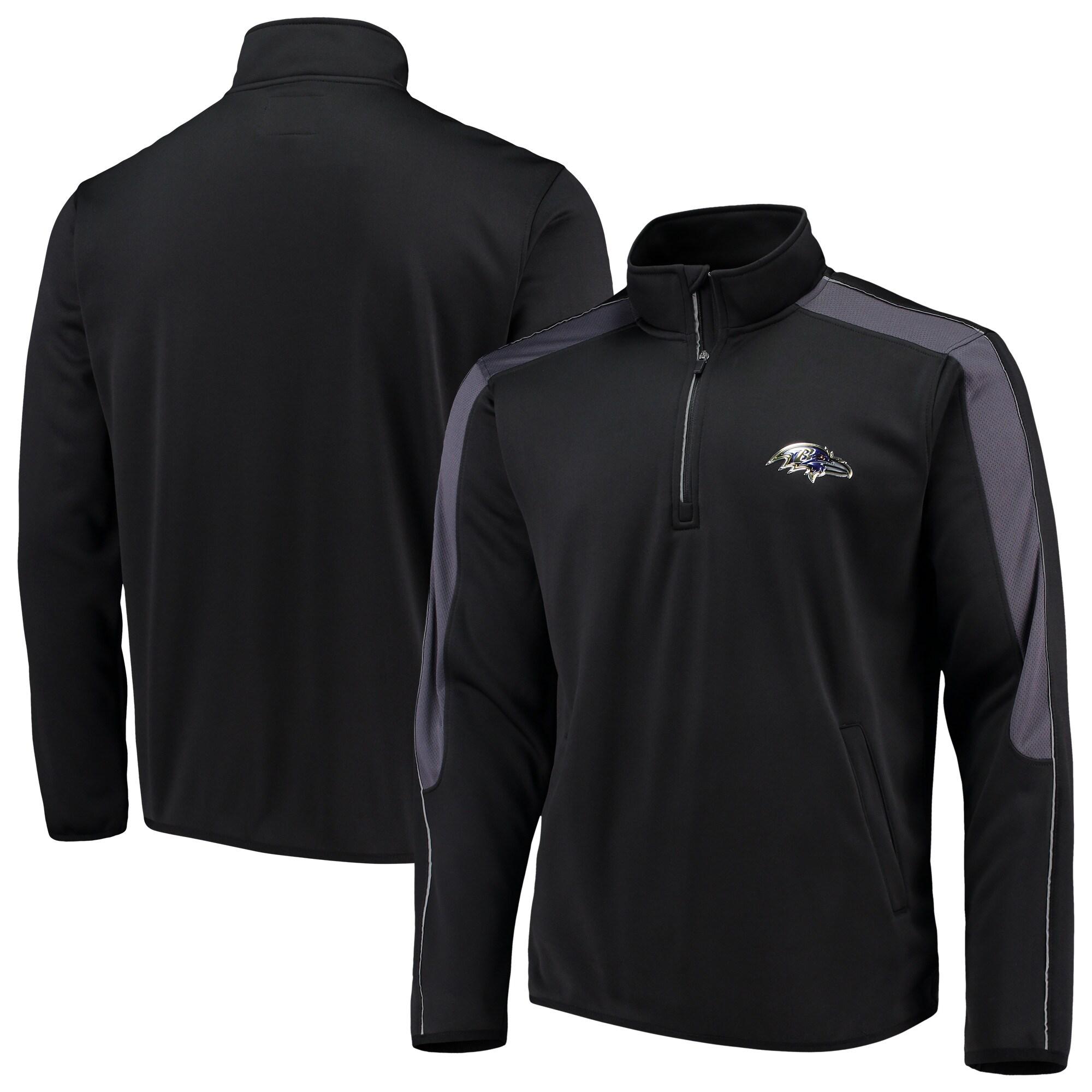 Baltimore Ravens G-III Sports by Carl Banks I Formation Quarter-Zip Pullover Jacket - Black
