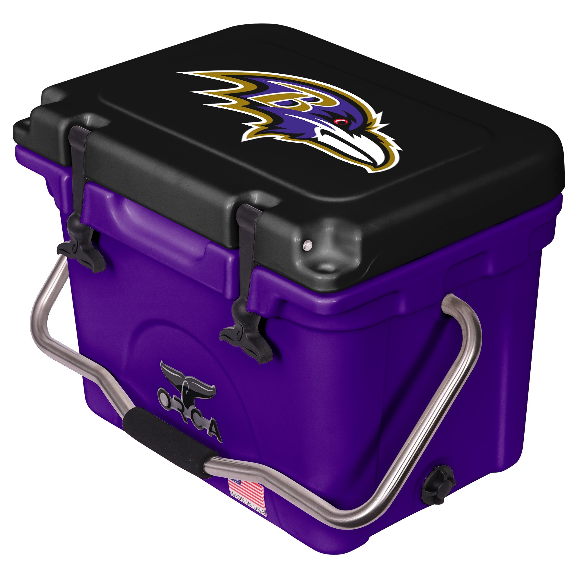 Baltimore Ravens ORCA 20-Quart Hard-Sided Cooler - Purple/Black