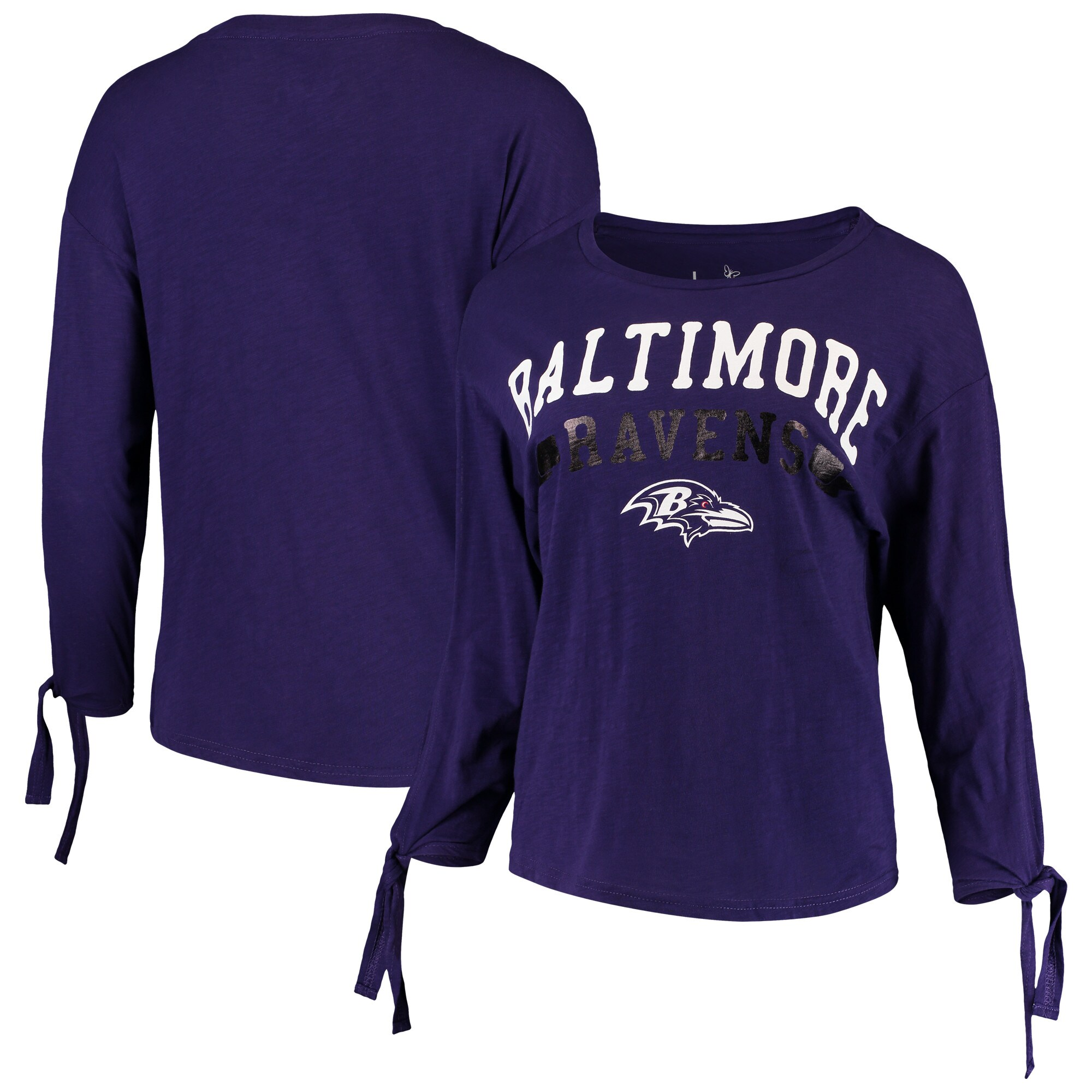 Baltimore Ravens Touch by Alyssa Milano Women's On The Fly Long Sleeve T-Shirt - Purple