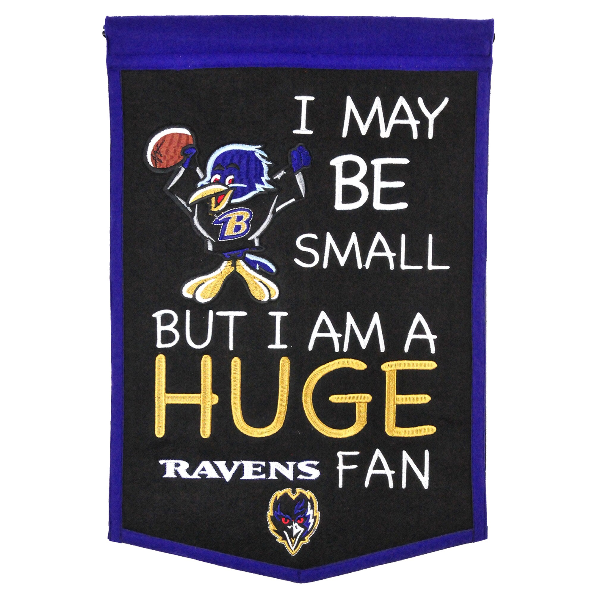 "Baltimore Ravens 12"" x 18"" Lil Fan Traditions Banner"