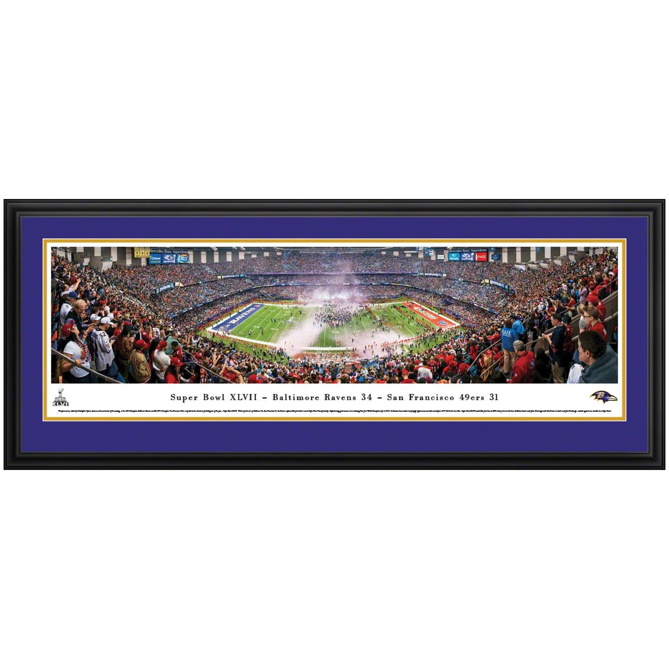 "Baltimore Ravens Super Bowl XLVII Champions 44"" x 18"" Deluxe Frame Panoramic Photo"