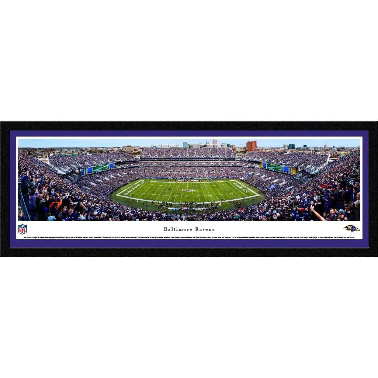 "Baltimore Ravens 16"" x 42"" Select Frame Panoramic Photo"