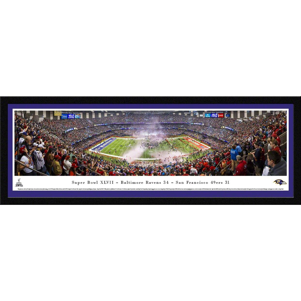"Baltimore Ravens Super Bowl XLVII 16"" x 42"" Select Frame Panoramic Photo"