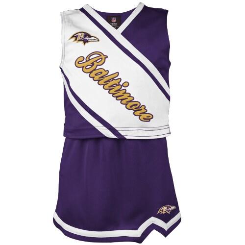 Baltimore Ravens Girls Youth 2-Piece Cheerleader Set - Purple