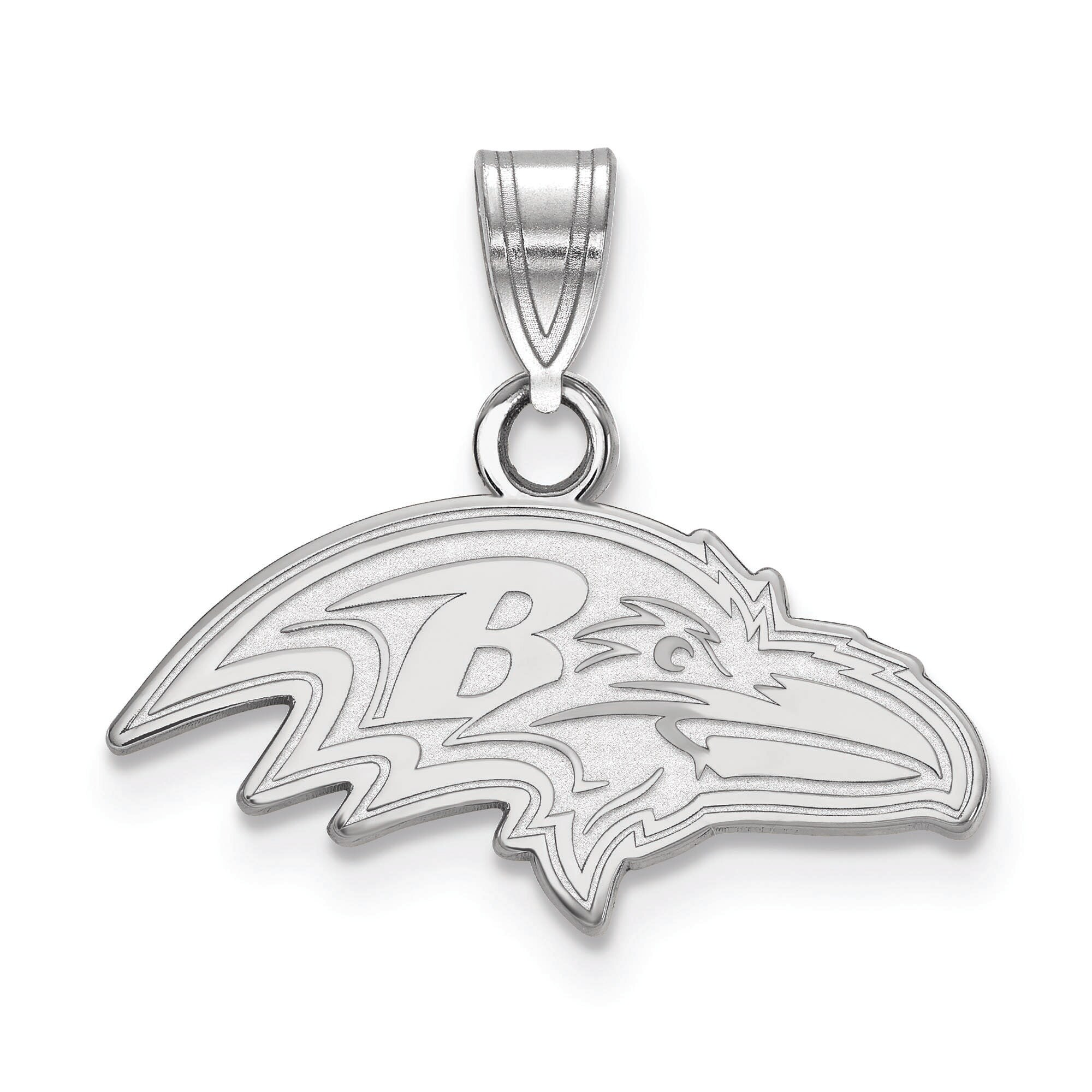 Baltimore Ravens Women's Silver Small Pendant