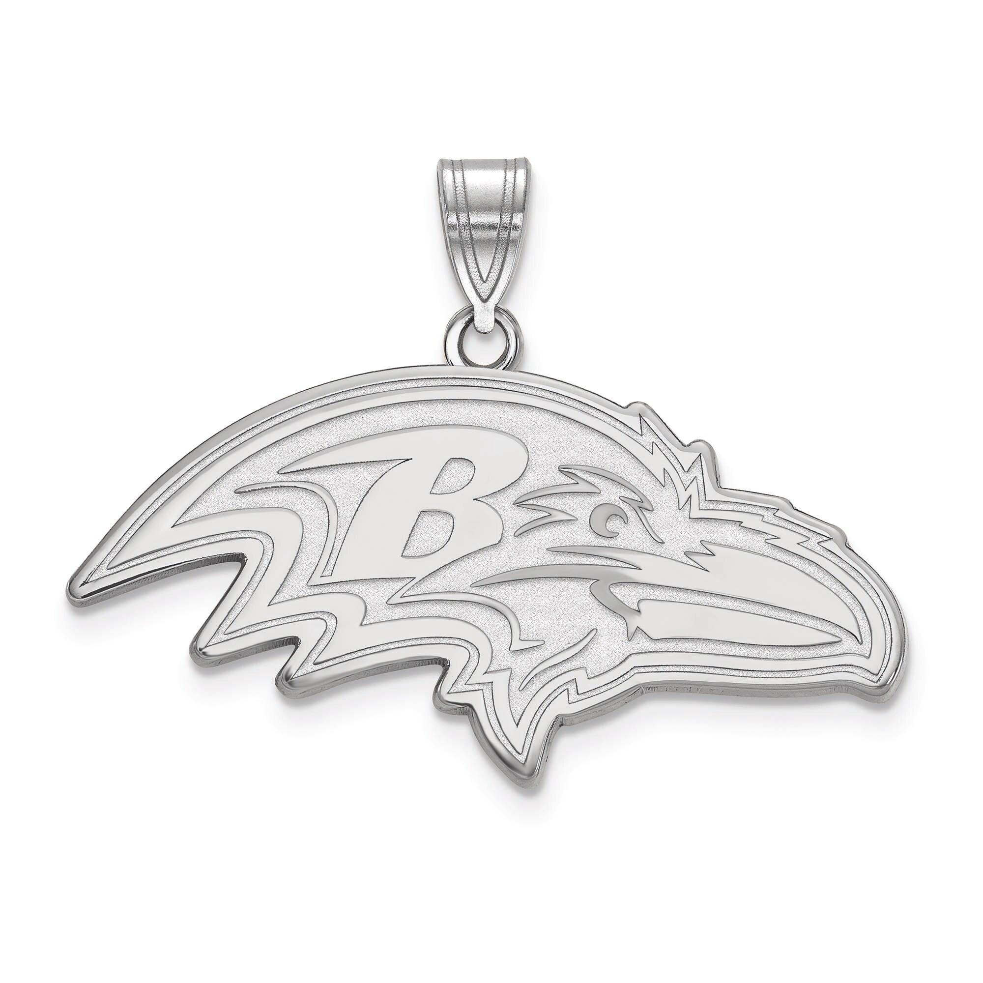 Baltimore Ravens Women's Sterling Silver XL Pendant