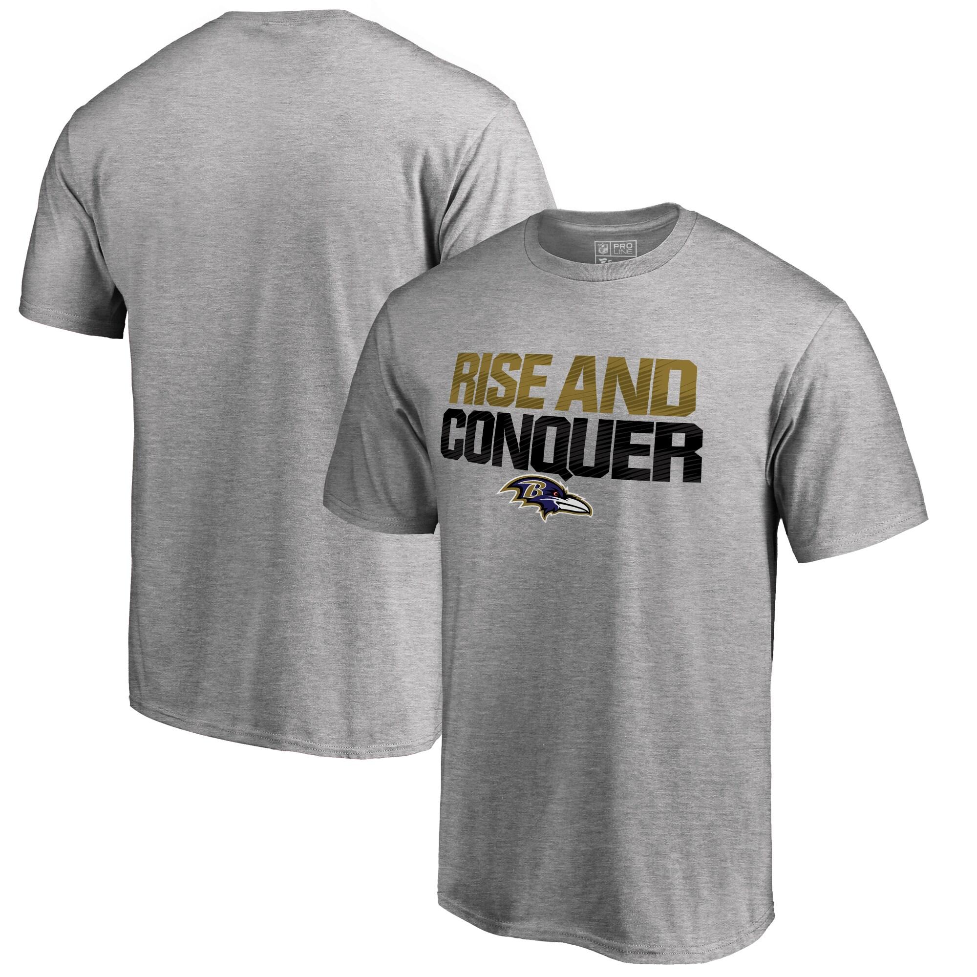 Baltimore Ravens NFL Pro Line Big & Tall Mantra T-Shirt - Ash