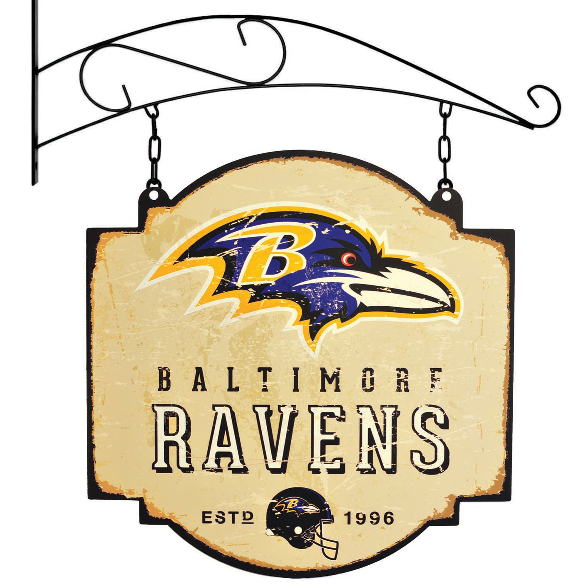 "Baltimore Ravens 16"" x 16"" Tavern Sign - Cream"