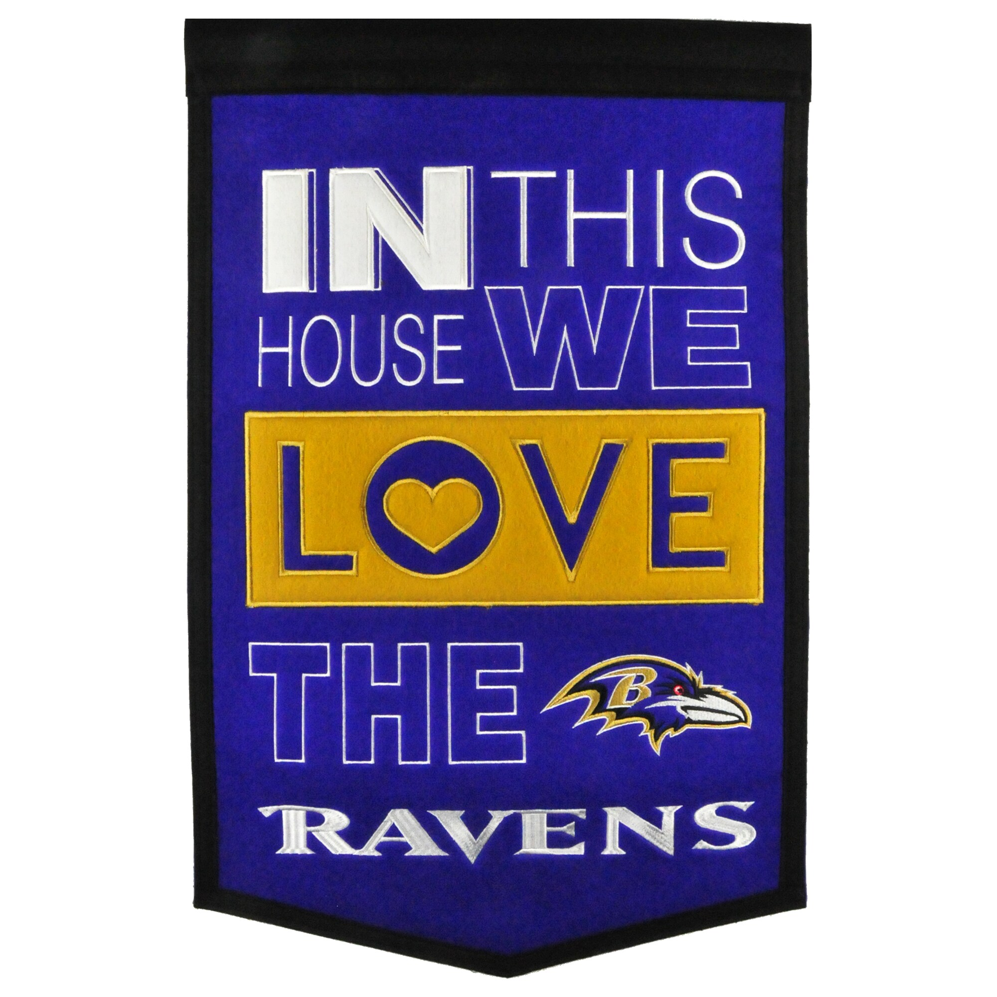 Baltimore Ravens 15'' x 24'' Home Banner
