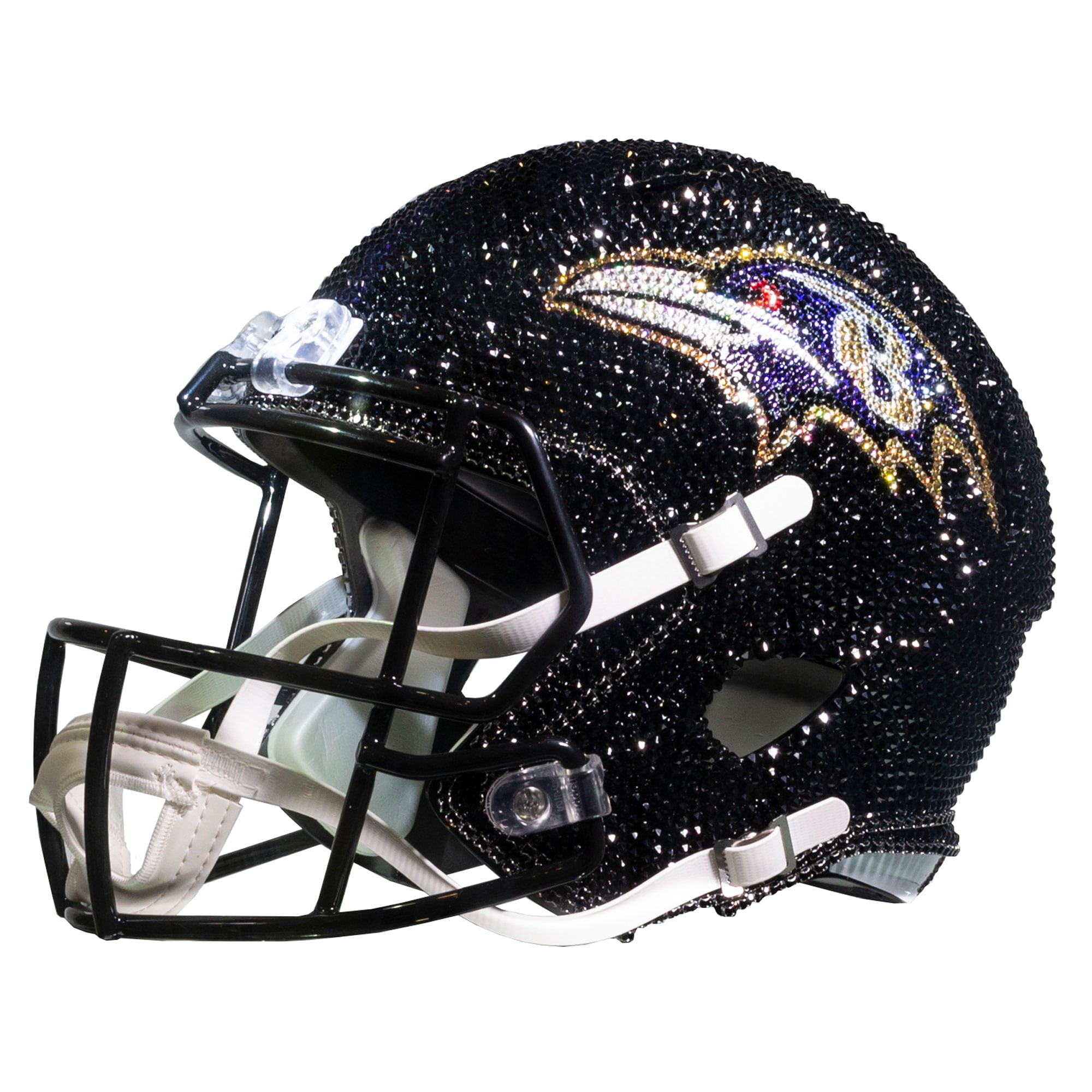 Baltimore Ravens Swarovski Crystal Large Football Helmet