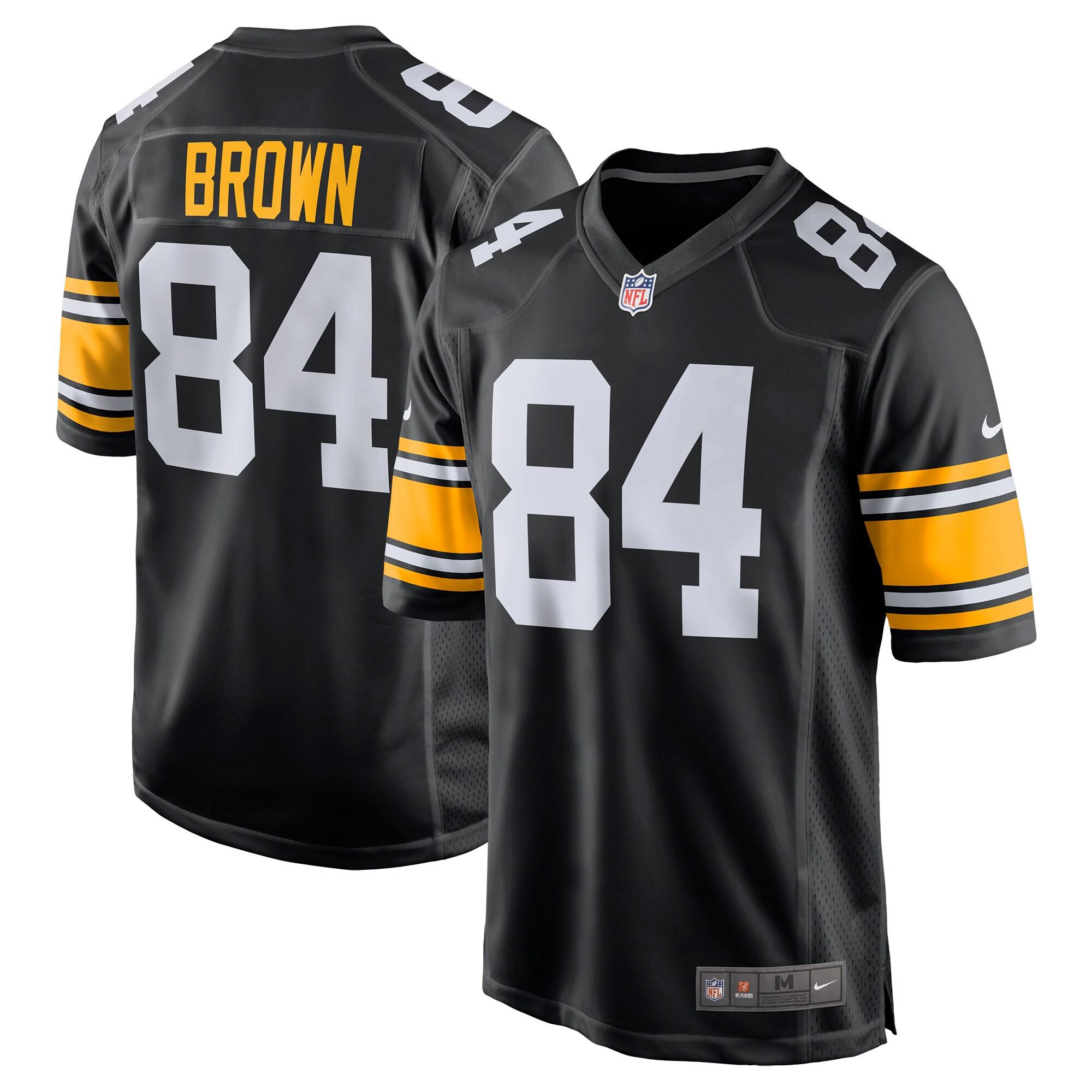 Antonio Brown Pittsburgh Steelers Nike Alternate Game Jersey - Black