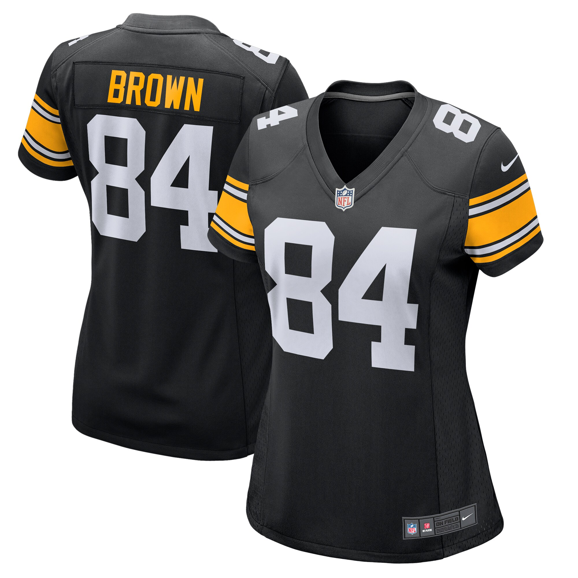 Antonio Brown Pittsburgh Steelers Nike Women's Alternate Game Jersey - Black