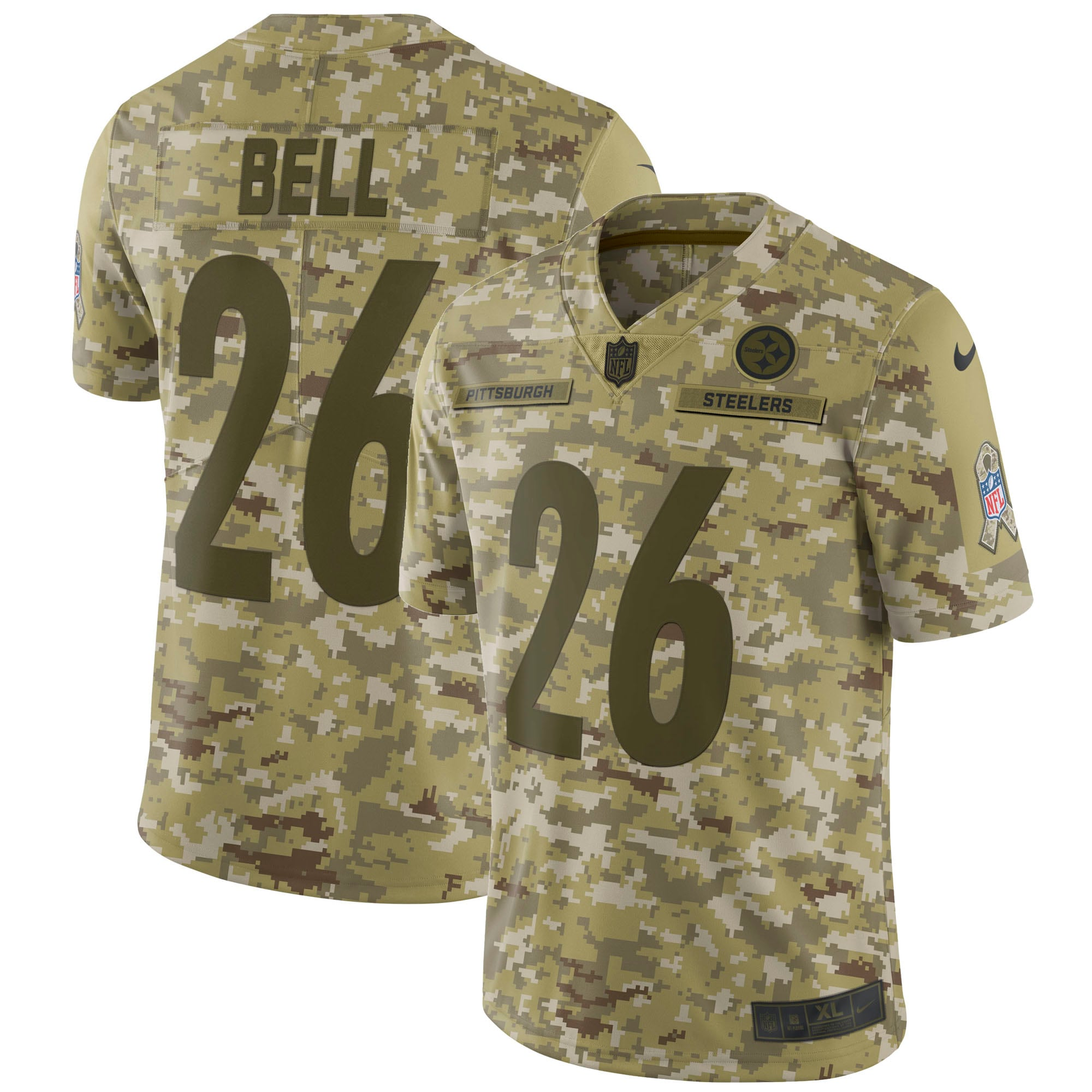 Le'Veon Bell Pittsburgh Steelers Nike Salute to Service Limited Jersey - Camo