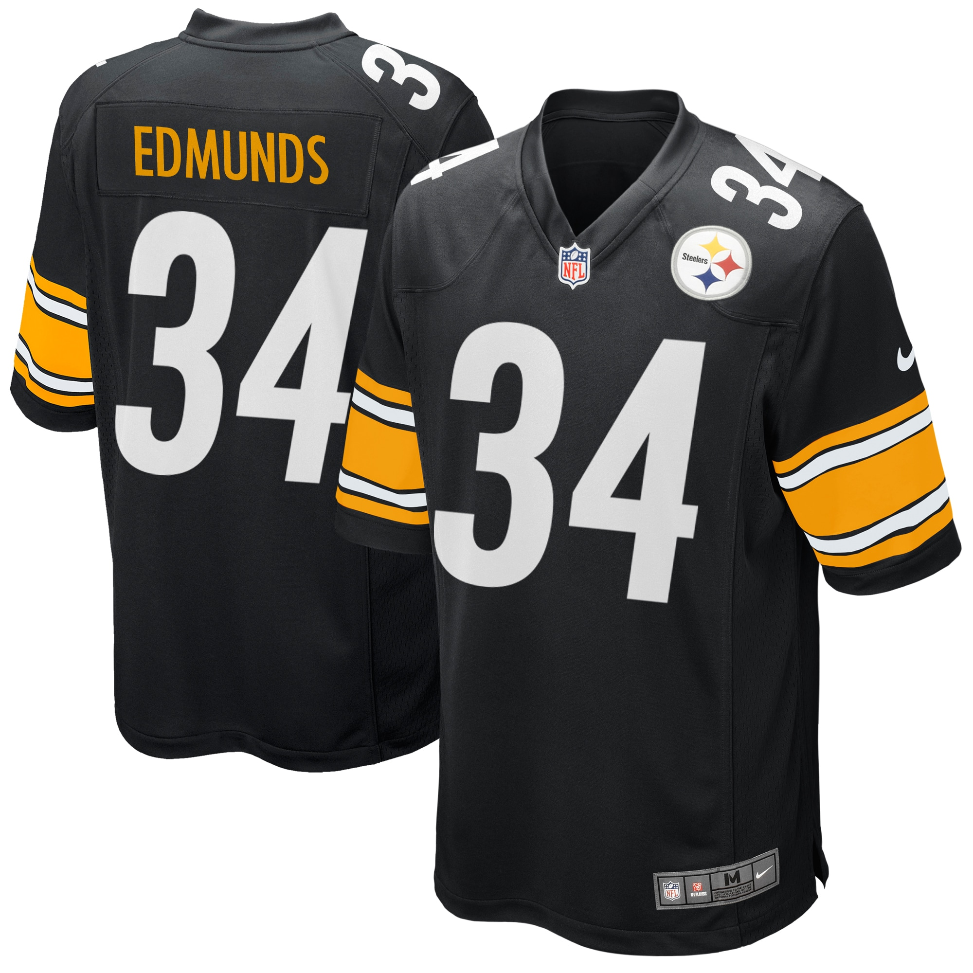 Terrell Edmunds Pittsburgh Steelers Nike Game Player Jersey - Black