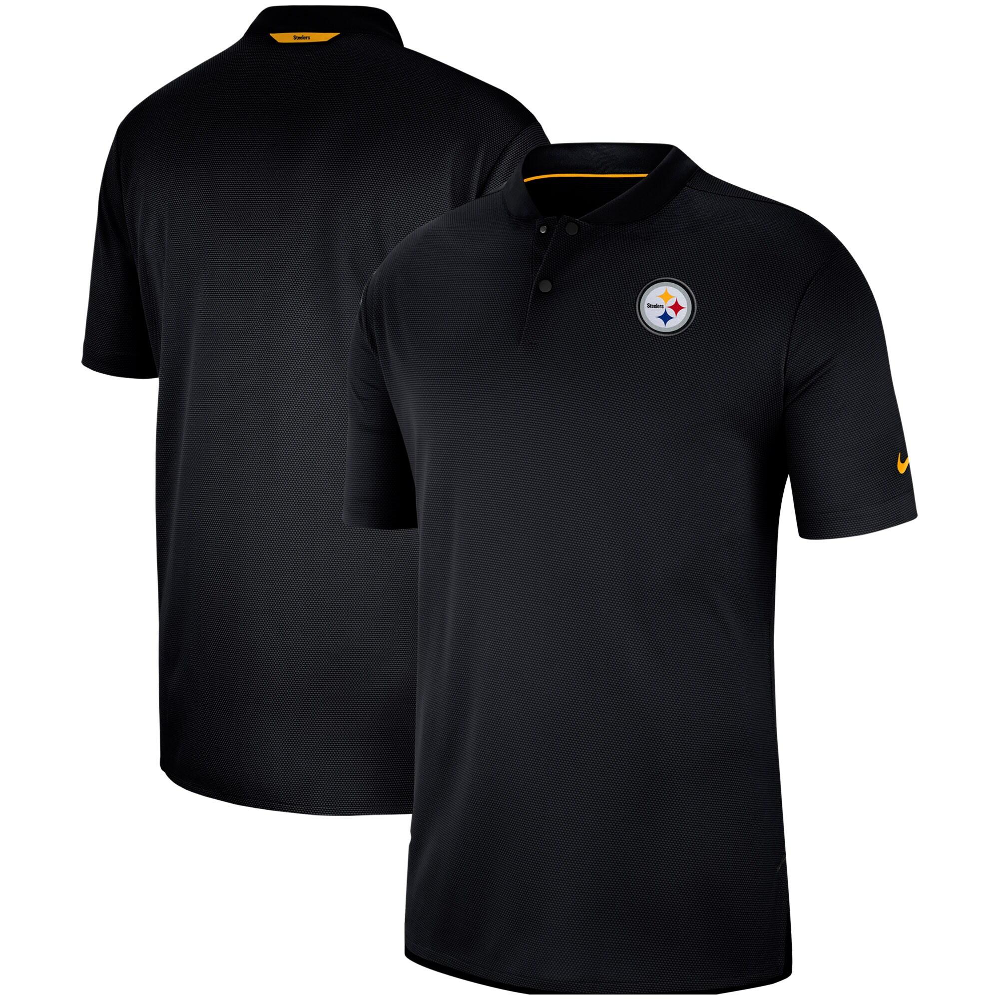 Pittsburgh Steelers Nike Sideline Elite Coaches Performance Polo - Black