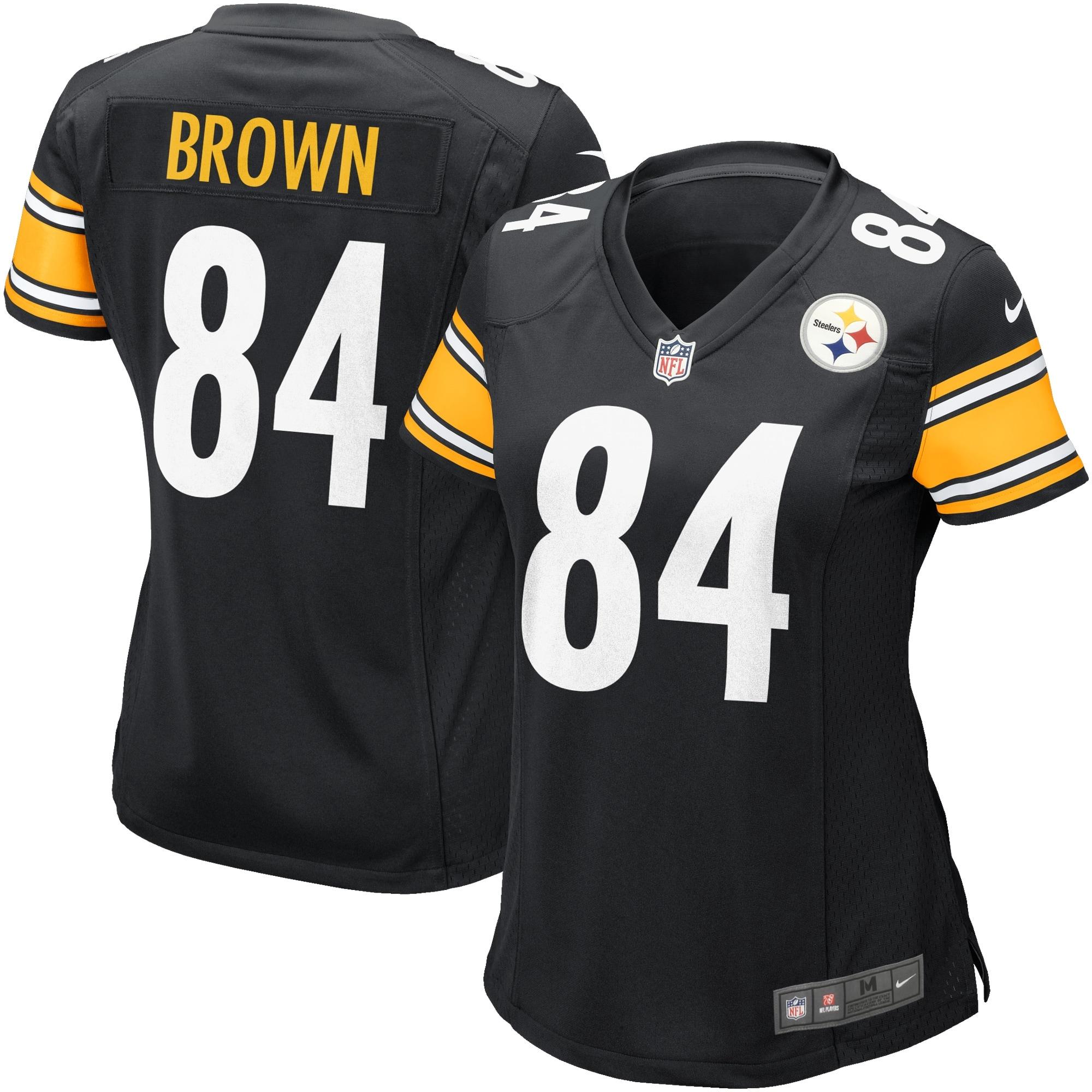 Antonio Brown Pittsburgh Steelers Nike Women's Game Jersey - Black